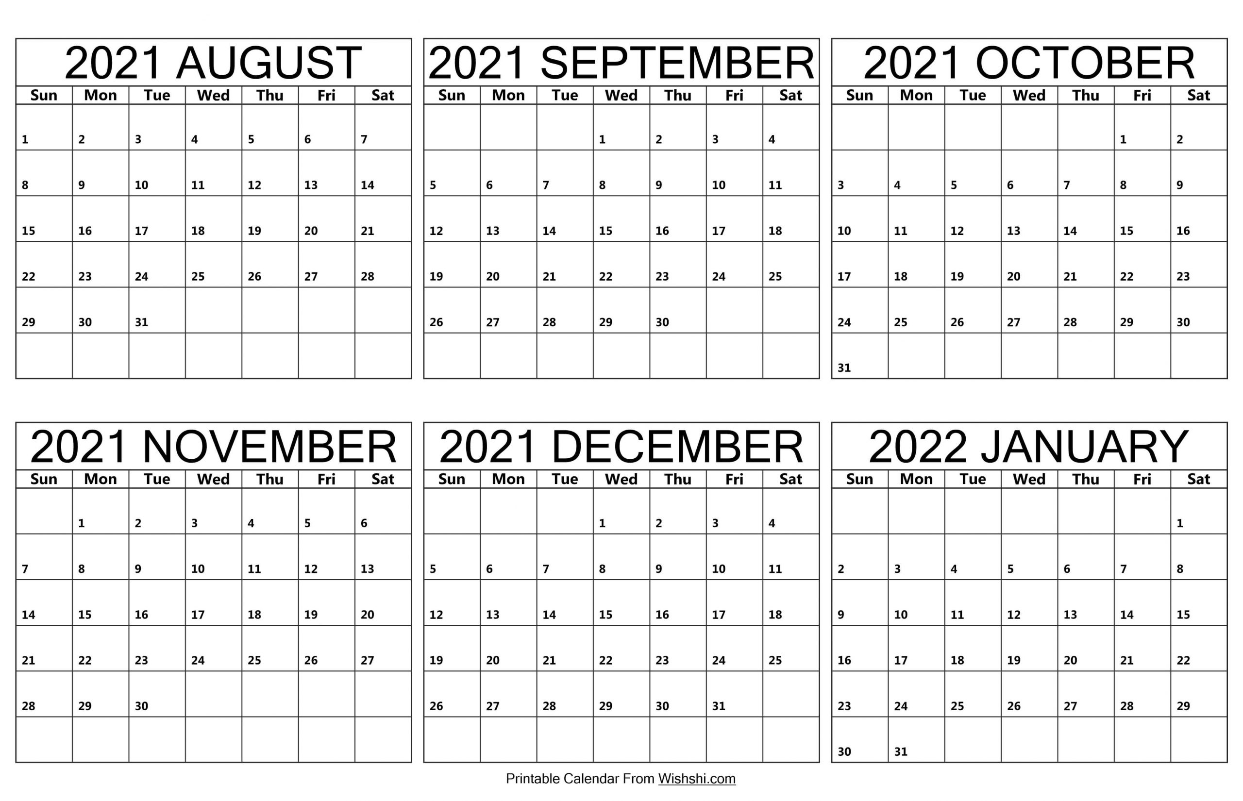 August 2021 to January 2022 Calendar scaled