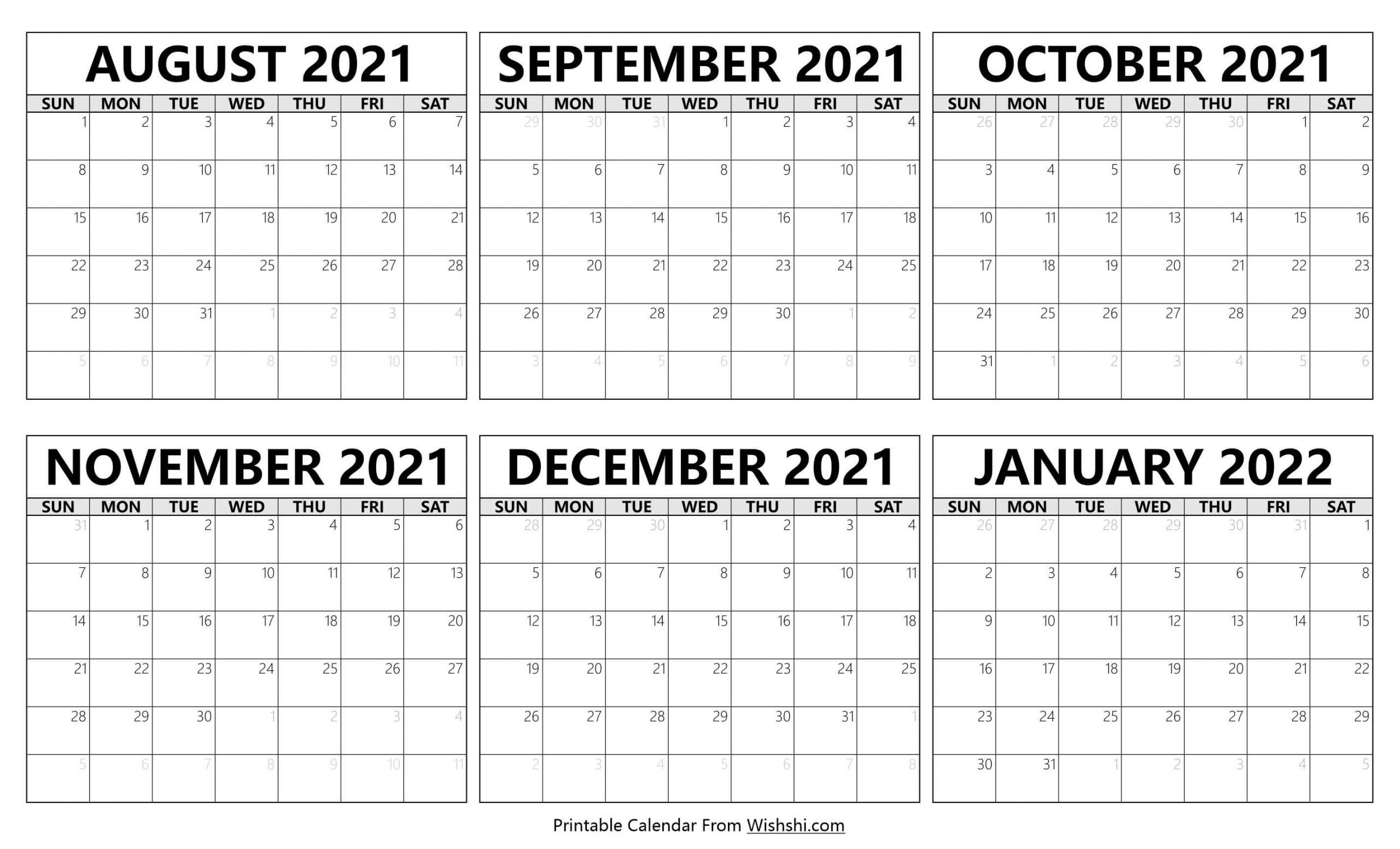 Calendar 2021 August to January 2022 scaled
